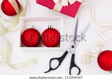 Christmas holiday preparations. New Year decoration planning