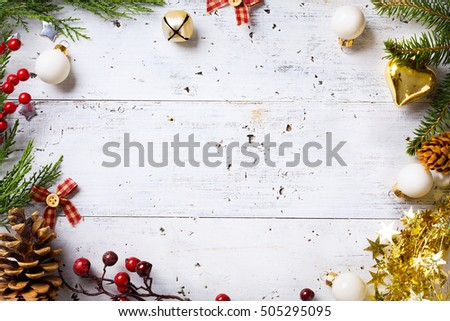 Christmas holidays background with Christmas holidays ornament on white background