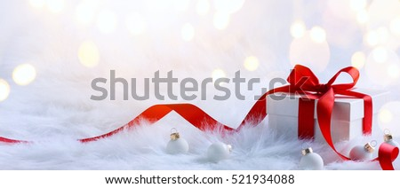 Christmas holidays composition on light background with copy space for your text #521934088