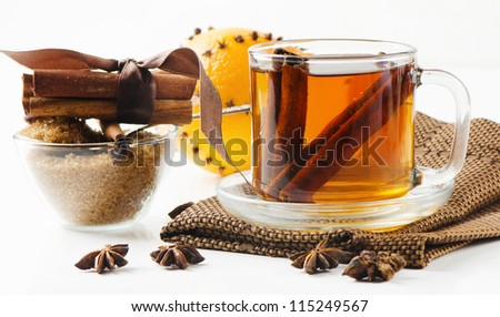 Christmas hot tea