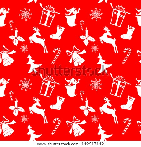 christmas icons silhouettes seamless texture units