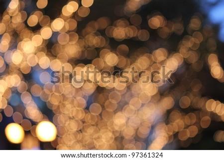 Christmas illumination / Christmas tree - stock photo