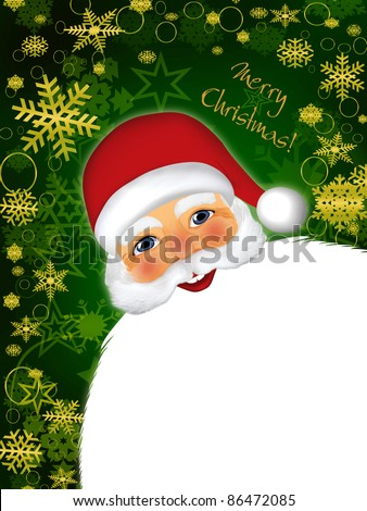 Christmas illustration with Santa Claus