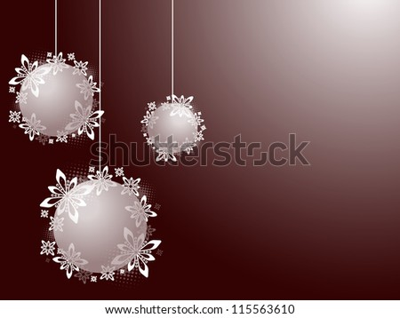 Christmas invitation Christmas decorations with white snowflakes on the red background