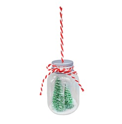 Christmas isolate on white background. Christmas ornament with a Christmas tree inside.Christmas toy. New year concept.