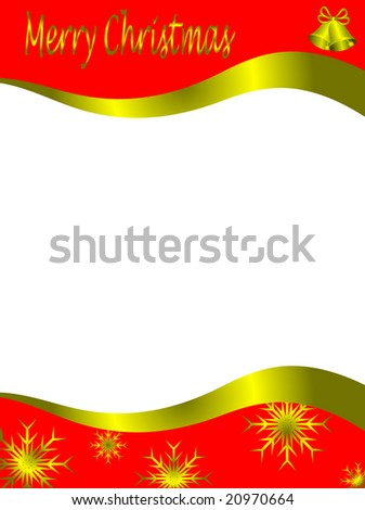 stock photo : Christmas letter stationary with top and bottom christmas