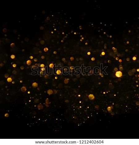 Christmas light background.  Holiday glowing backdrop. Defocused Background With Blinking Stars. Blurred Bokeh. #1212402604