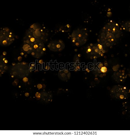 Christmas light background.  Holiday glowing backdrop. Defocused Background With Blinking Stars. Blurred Bokeh. #1212402631