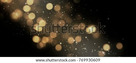 Christmas light background.  Holiday glowing backdrop. Defocused Background With Blinking Stars. Blurred Bokeh. #769930609