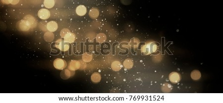 Christmas light background.  Holiday glowing backdrop. Defocused Background With Blinking Stars. Blurred Bokeh. #769931524