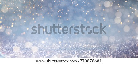 Christmas light background.  Holiday glowing backdrop. Defocused Background With Blinking Stars. Blurred Bokeh. #770878681