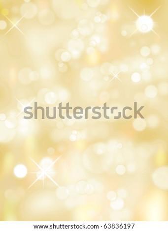 Christmas light background, Yellow and white luminous image