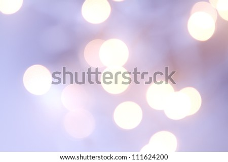 Christmas light bokeh in shades of purple