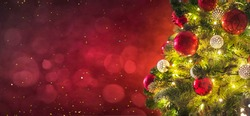 Christmas light. Christmas and New Year holidays background