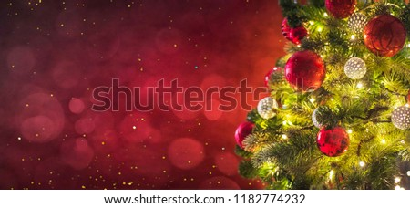 Christmas light. Christmas and New Year holidays background  - Shutterstock ID 1182774232