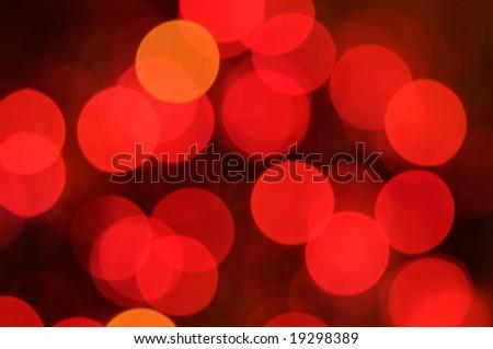 Christmas lights background. Defocused image of      bulbs