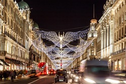 Christmas lights 2016 in Mayfair, London, England