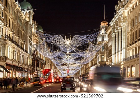 stock photo christmas lights in mayfair london england 521569702 - Каталог — Фотообои «Улицы, переулки»
