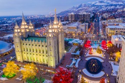 Christmas Lights on Display in Salt Lake City