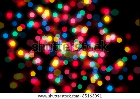Christmas lights out of focus