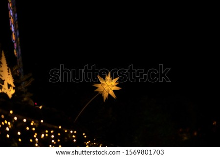 christmas lights. Stars and lights in Edinburgh #1569801703