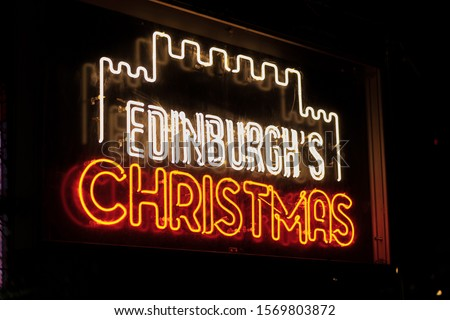 christmas lights. Stars and lights in Edinburgh #1569803872