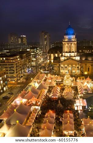 christmas market in berlin at night