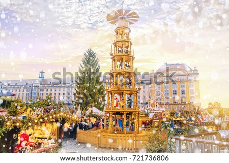 Christmas market in Dresden, Germany.  #721736806