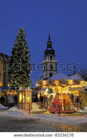 Christmas market in Erbach, Germany