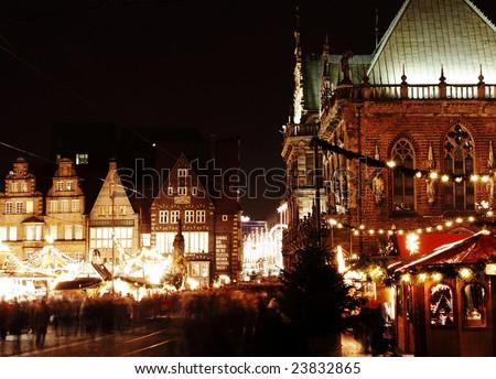 Christmas Market in Market Square, Bremen, Germany