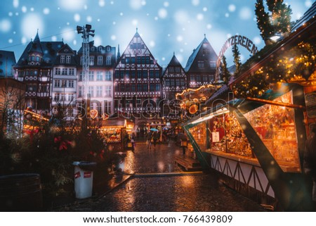 christmas market spirit during...