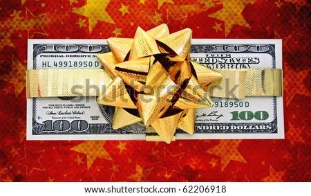 christmas money background - stock photo