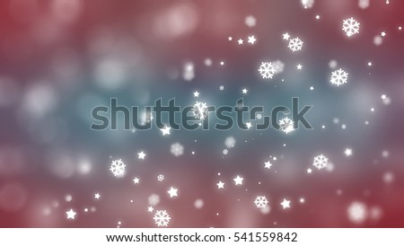 Christmas multicolored background with falling snowflakes. illustration digital. #541559842