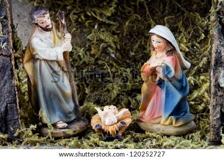 Christmas Nativity - stock photo