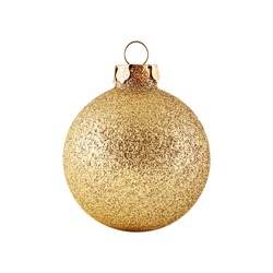 Christmas, New year ball isolated on white background.