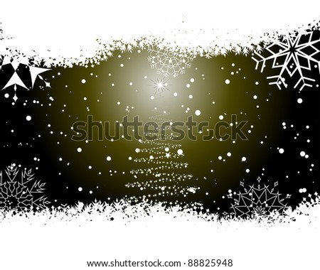 Christmas (New Year) card for design use - stock photo