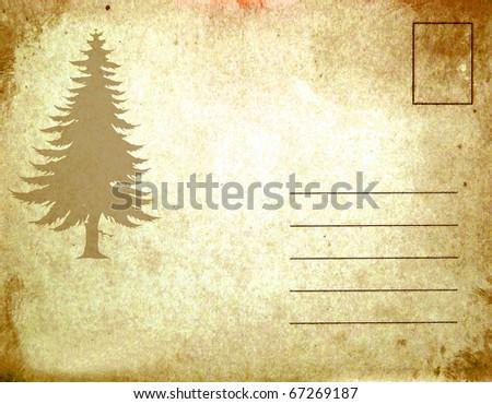 Christmas old postcard