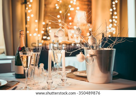 Christmas or New Year party table
