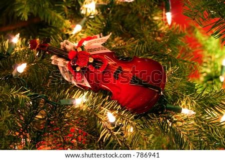 Christmas Ornament on Tree - stock photo