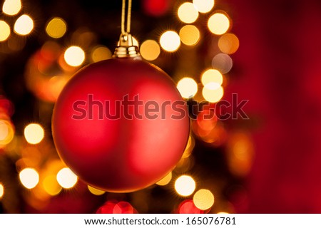 Christmas ornament red ball