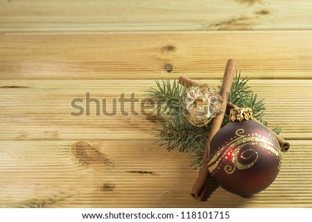 Christmas Ornament with walnut baby
