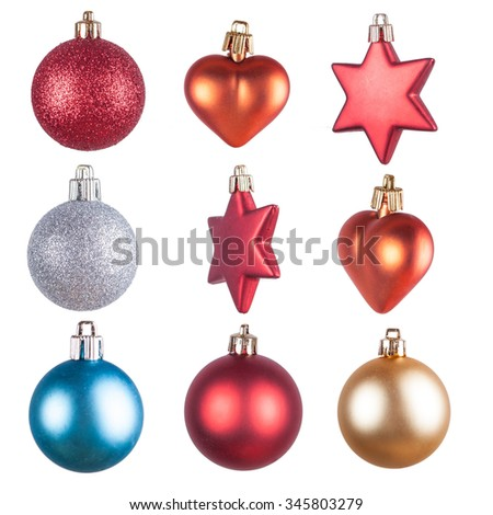 Christmas ornaments isolated decorations #345803279