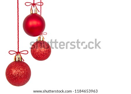 Christmas Ornaments isolated on a white background. #1184653963