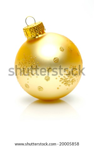 Christmas ornaments isolated on a white background - stock photo