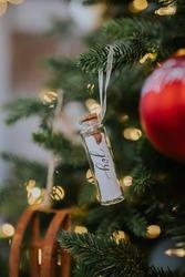 Christmas ornaments on a christmastree