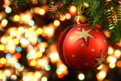 Christmas ornaments on the Christmas tree