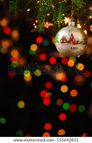 Christmas ornaments on the Christmas tree