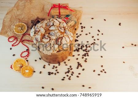 Christmas Panettone and Christmas setting #748965919