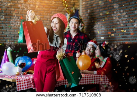 Fotos Cena Navidad Frinsa.Asian Friends Christmas Celebration Lifestyle Free Images