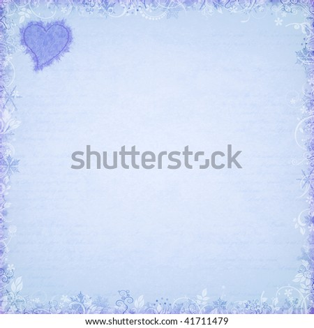 stock photo : christmas pattern card with snow texture and love heart symbol